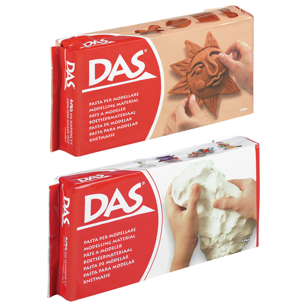 Das air drying modelling clay white terracotta 500g for Air dry clay crafts