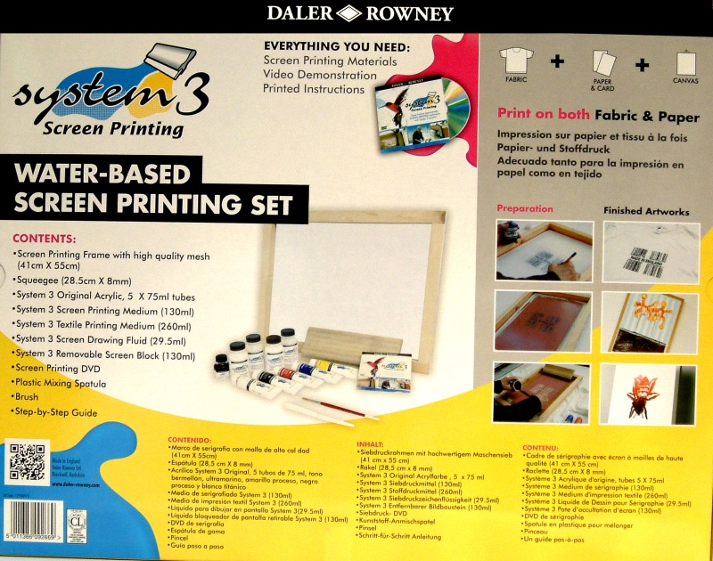 DALER ROWNEY - WATER-BASED SCREEN PRINTING SET